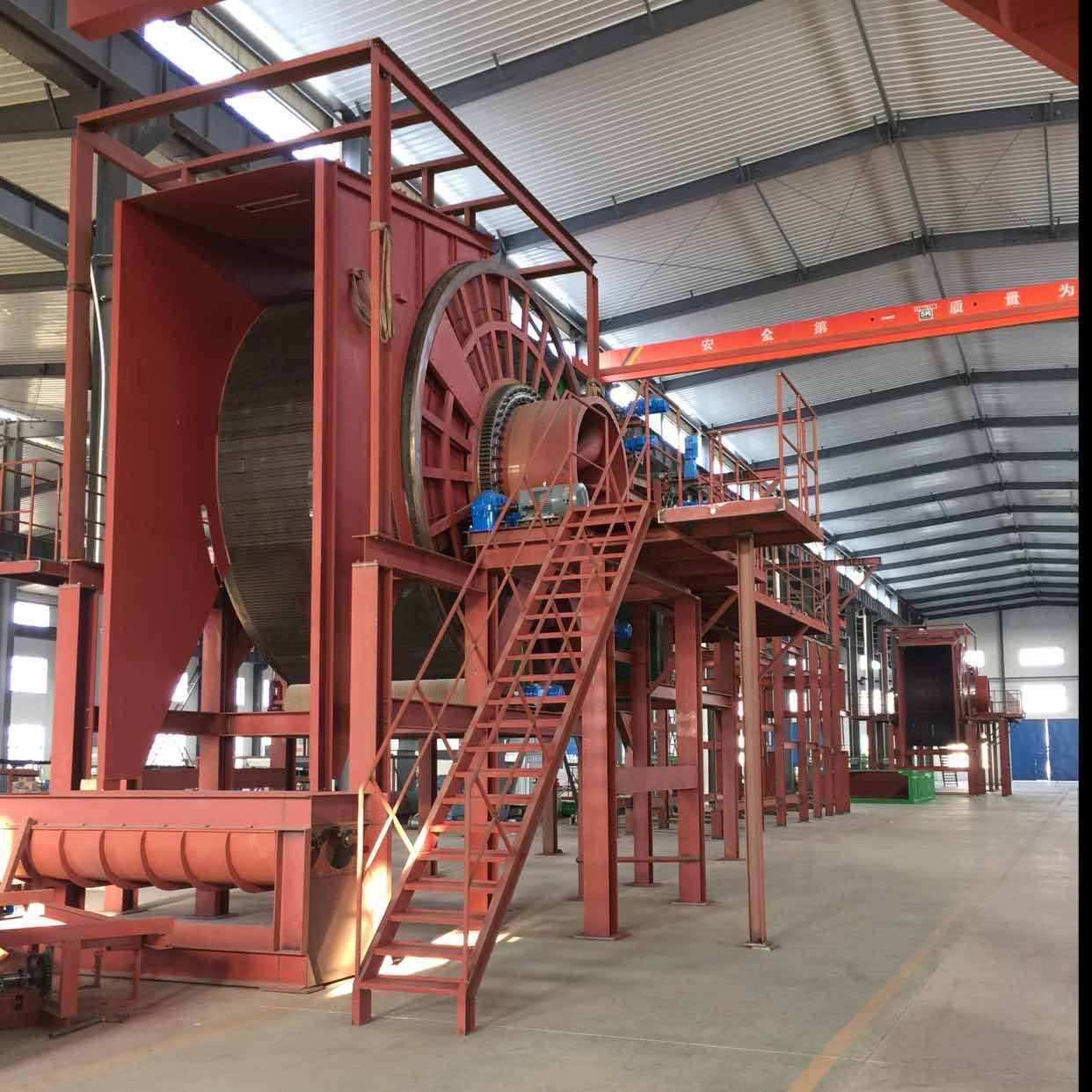 岩棉生产线安装现场